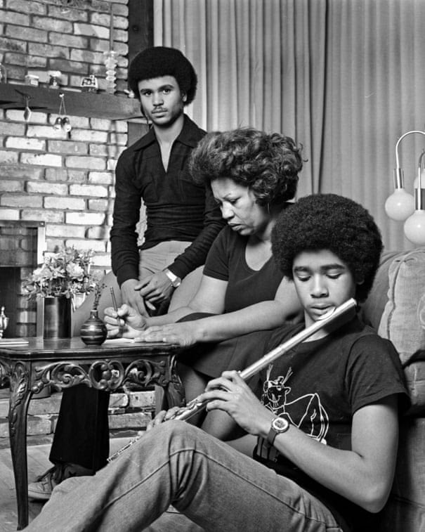 Toni Morrison with her Sons Slade And Ford at home in December 1978.