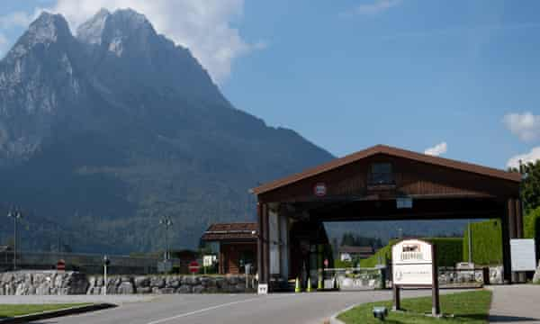 The US army Edelweiss lodge and resort in Garmisch-Partenkirchen, Germany, where the woman works.
