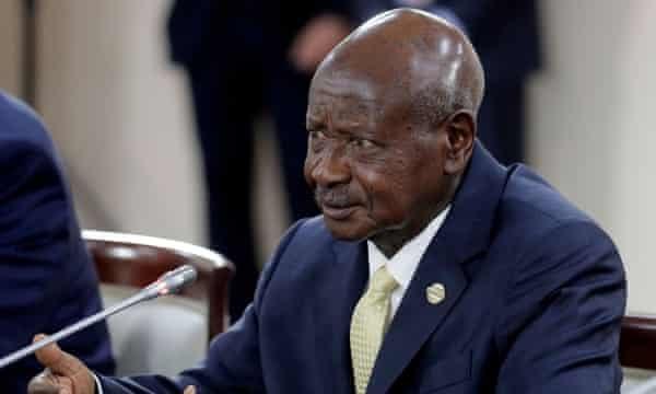 Uganda's president, Yoweri Museveni, in 2019.