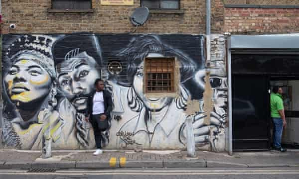 """The mural entitled """"Hip Hop raised me"""" in Dalston, east London."""