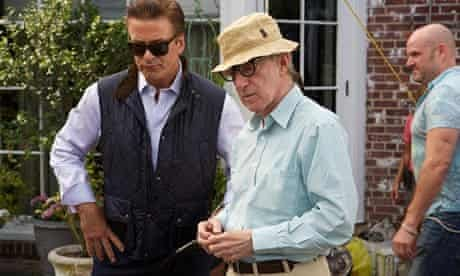 Woody Allen on the set of Blue Jasmine.